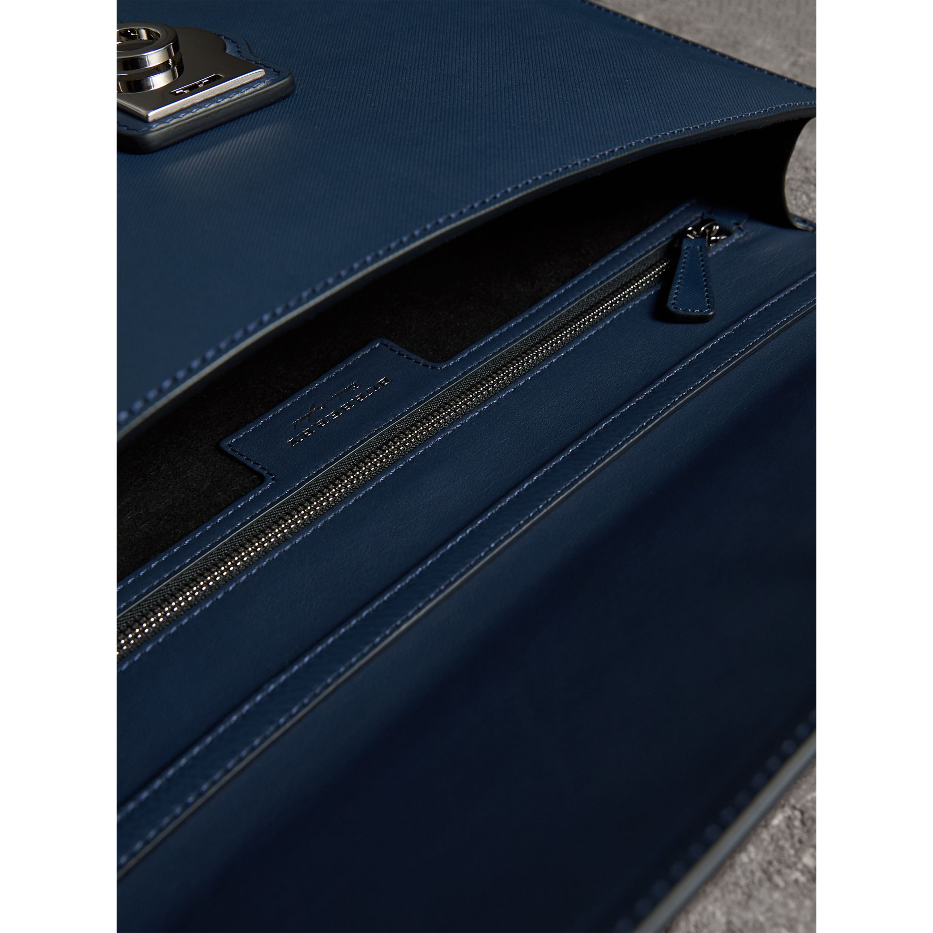 The Large DK88 Document Case in Ink Blue - Men | Burberry Australia - gallery image 4