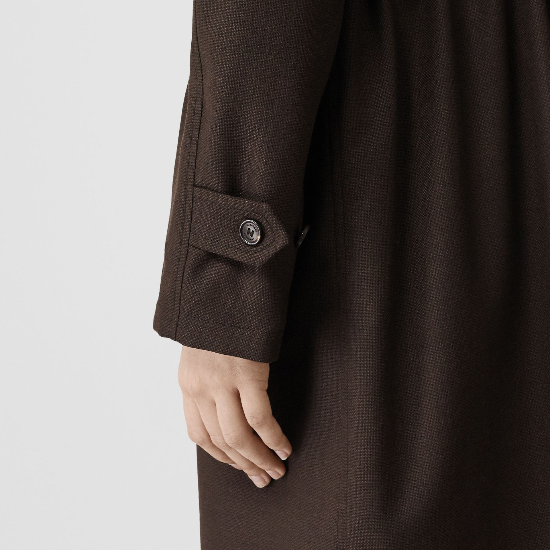 Scarf Detail Wool Car Coat in Coffee - Women | Burberry - gallery image 6