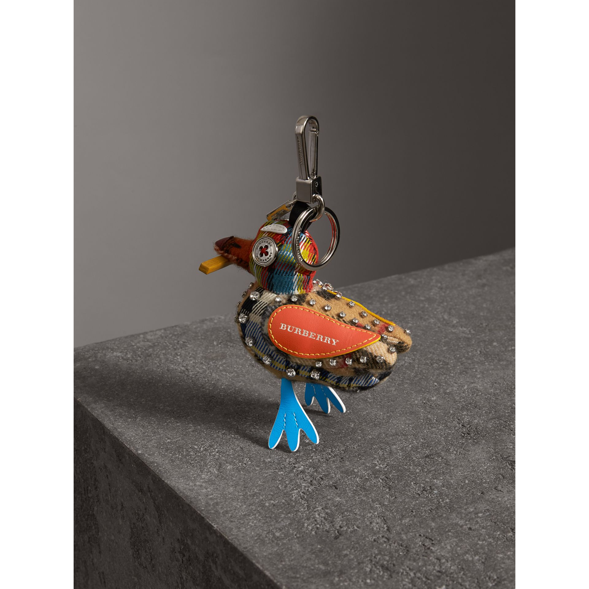 Lawrence The Seagull Cotton Charm in Blue/multicolour | Burberry - gallery image 3