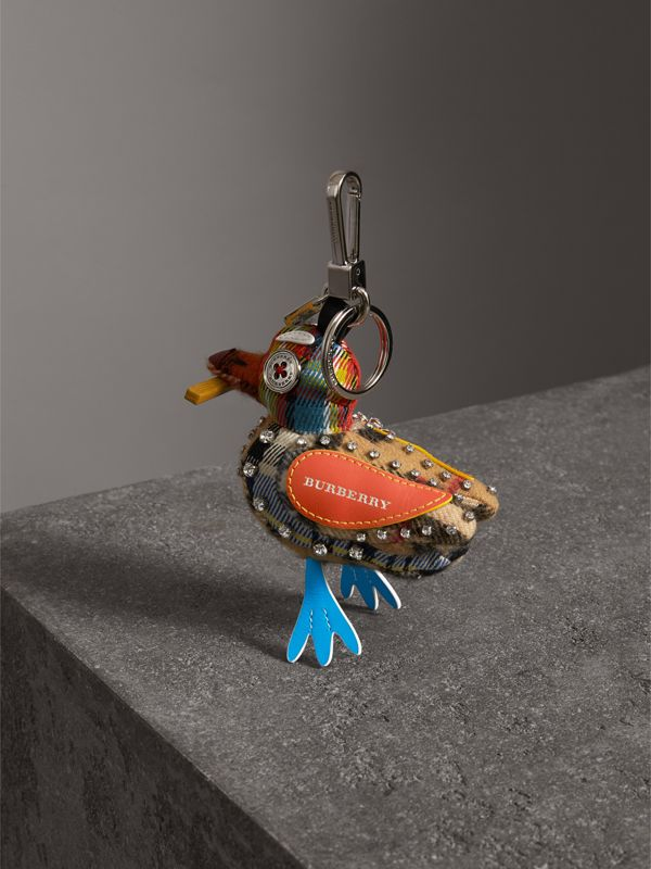 Lawrence The Seagull Cotton Charm in Blue/multicolour | Burberry United Kingdom - cell image 3
