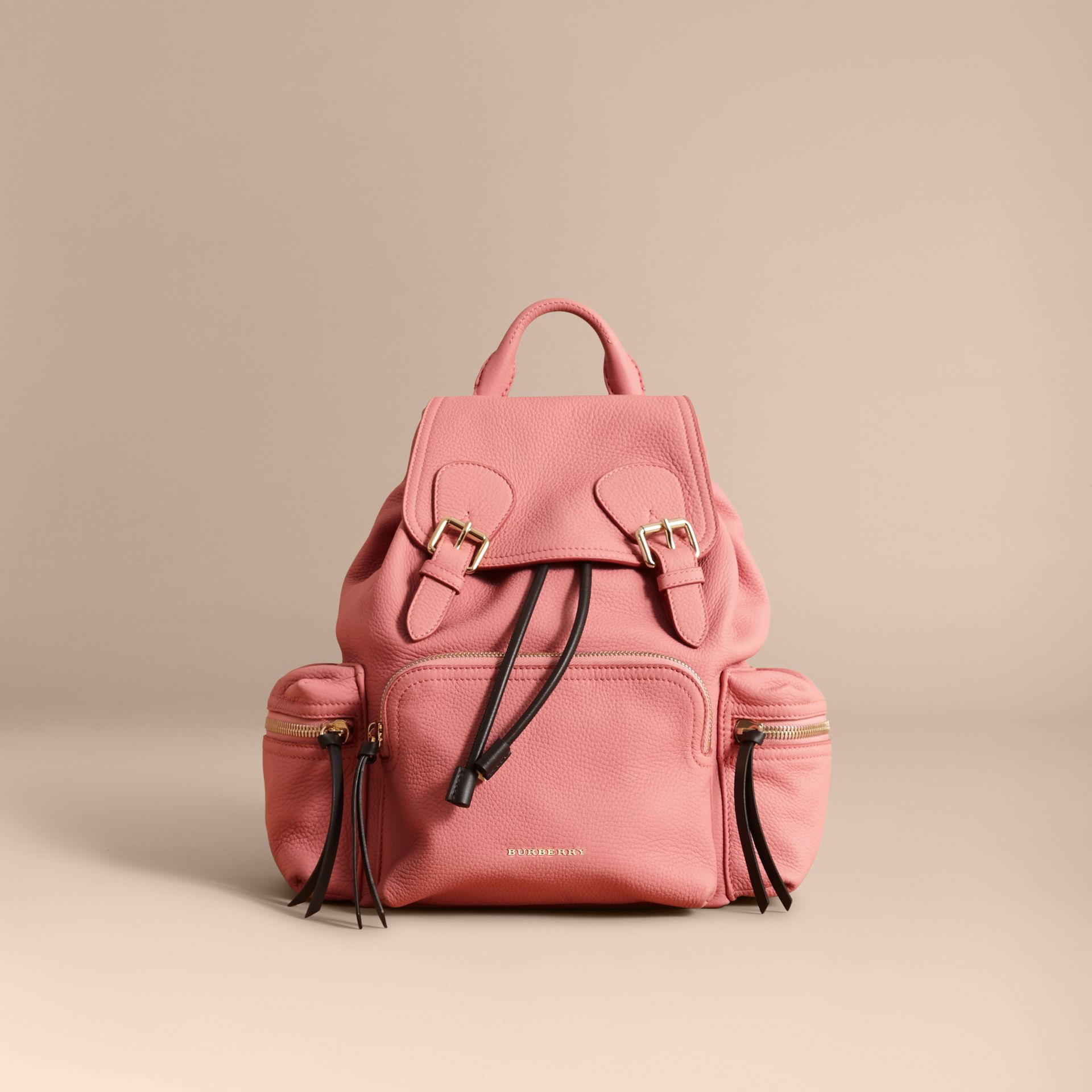The Medium Rucksack in Deerskin with Resin Chain in Blossom Pink - gallery image 7