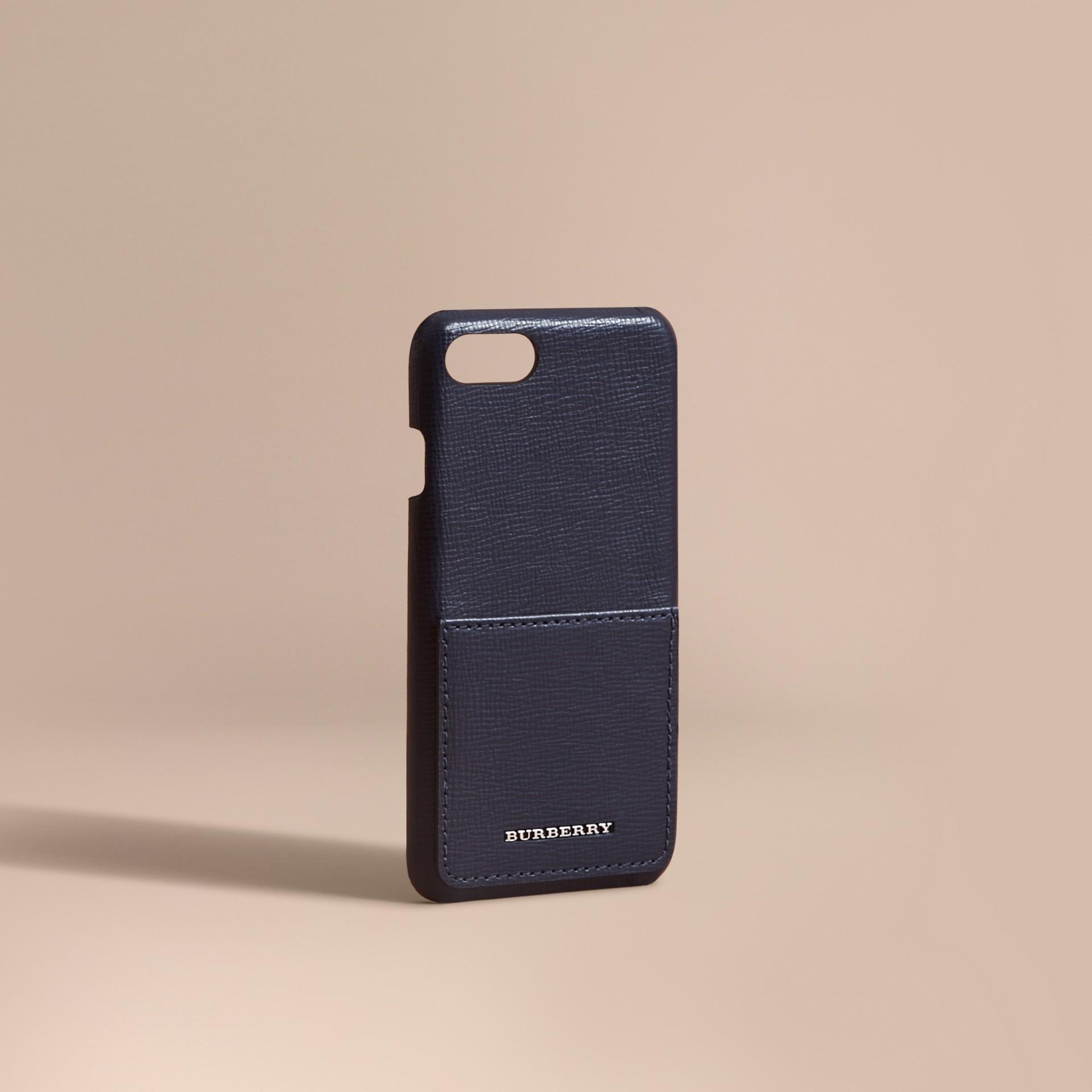 Grainy Leather iPhone 7 Case Dark Navy - gallery image 1