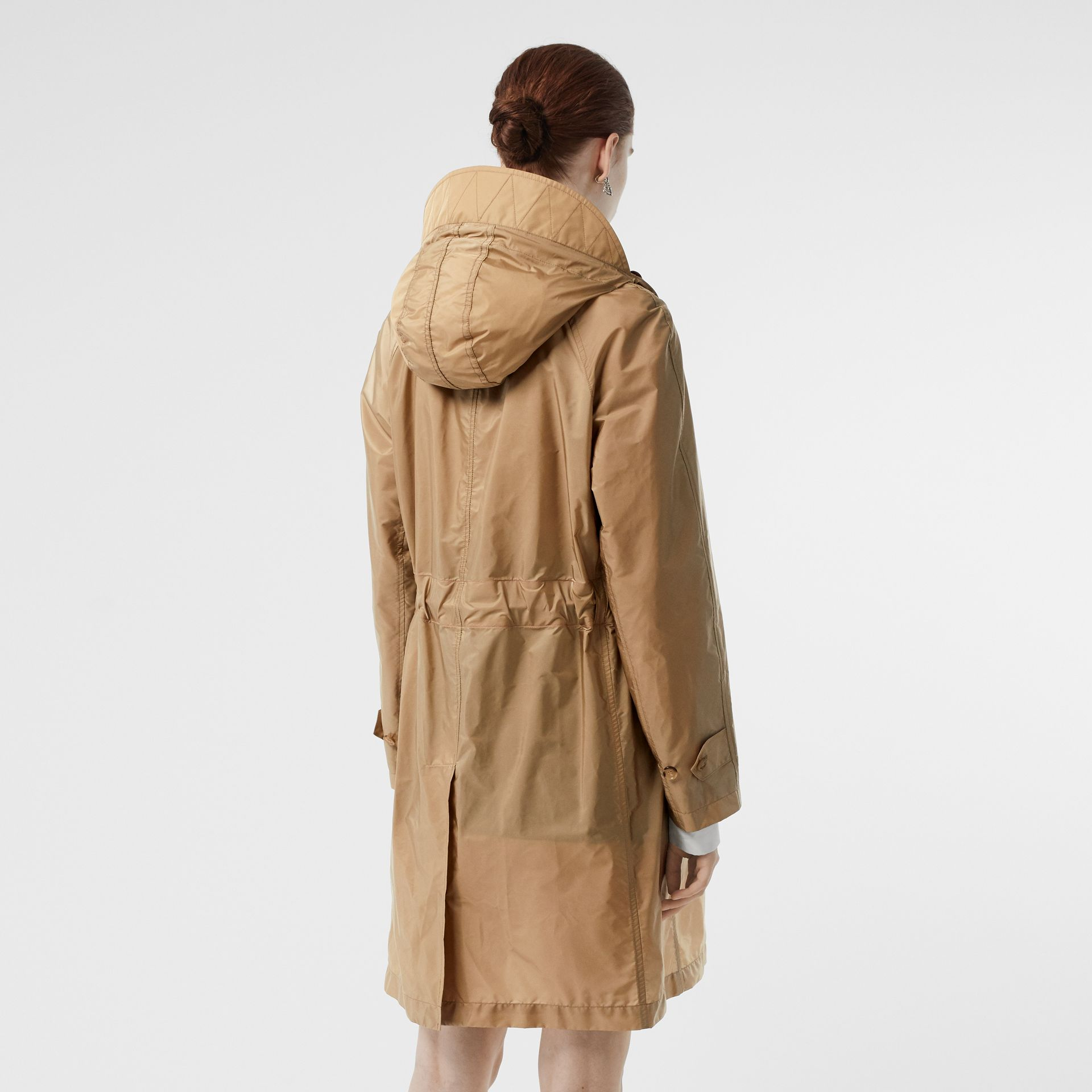 Detachable Hood Taffeta Parka in Honey - Women | Burberry - gallery image 2