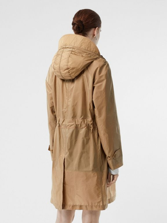 Detachable Hood Taffeta Parka in Honey - Women | Burberry - cell image 1