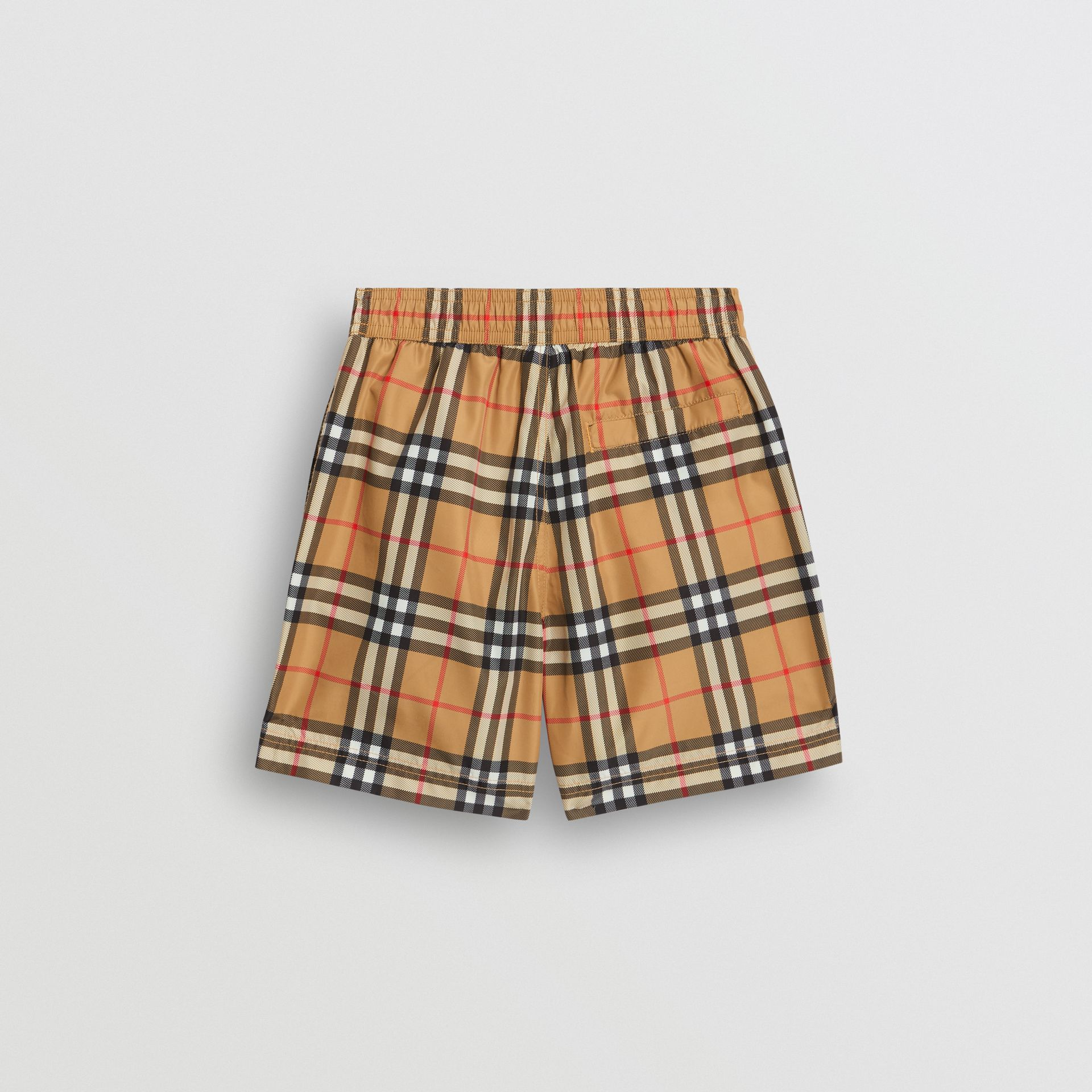 Short de bain à motif Vintage check (Jaune Antique) - Garçon | Burberry - photo de la galerie 3