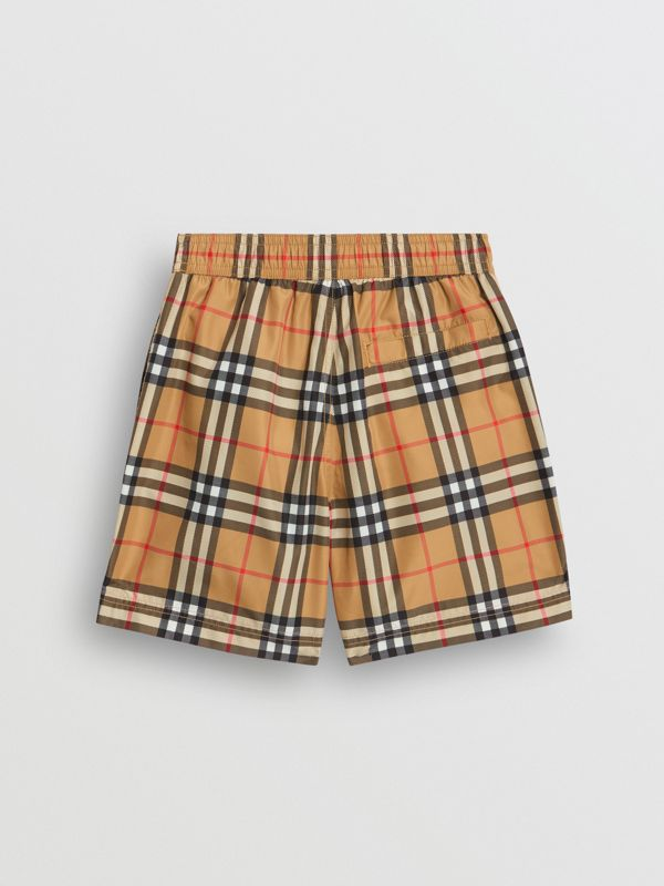 Vintage Check Swim Shorts in Antique Yellow - Boy | Burberry - cell image 3