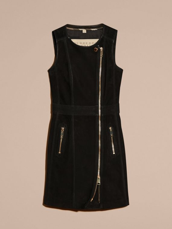 Black Nubuck Zip-front Dress - cell image 3