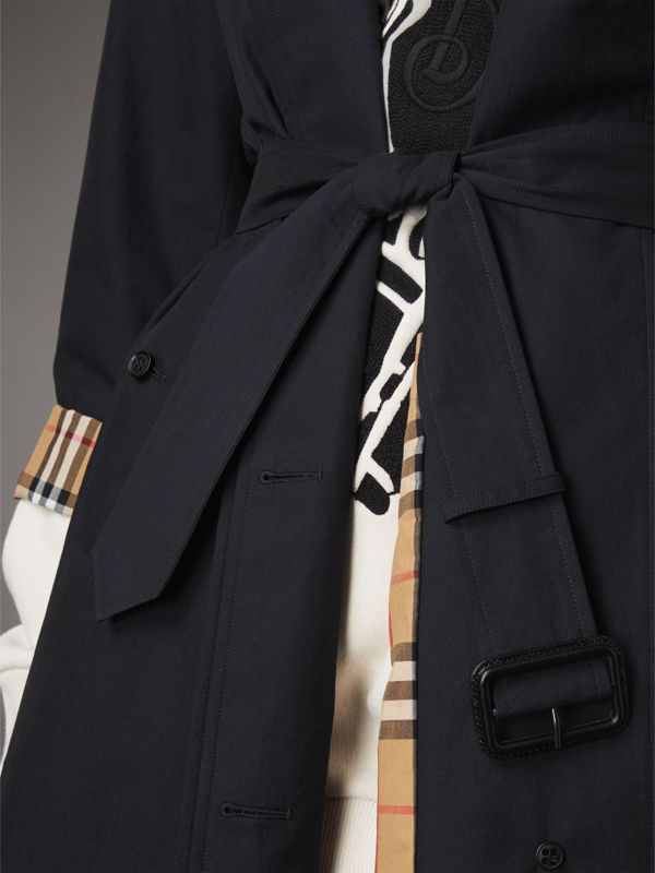 The Brighton – Extra-long Car Coat in Blue Carbon - Women | Burberry - cell image 3
