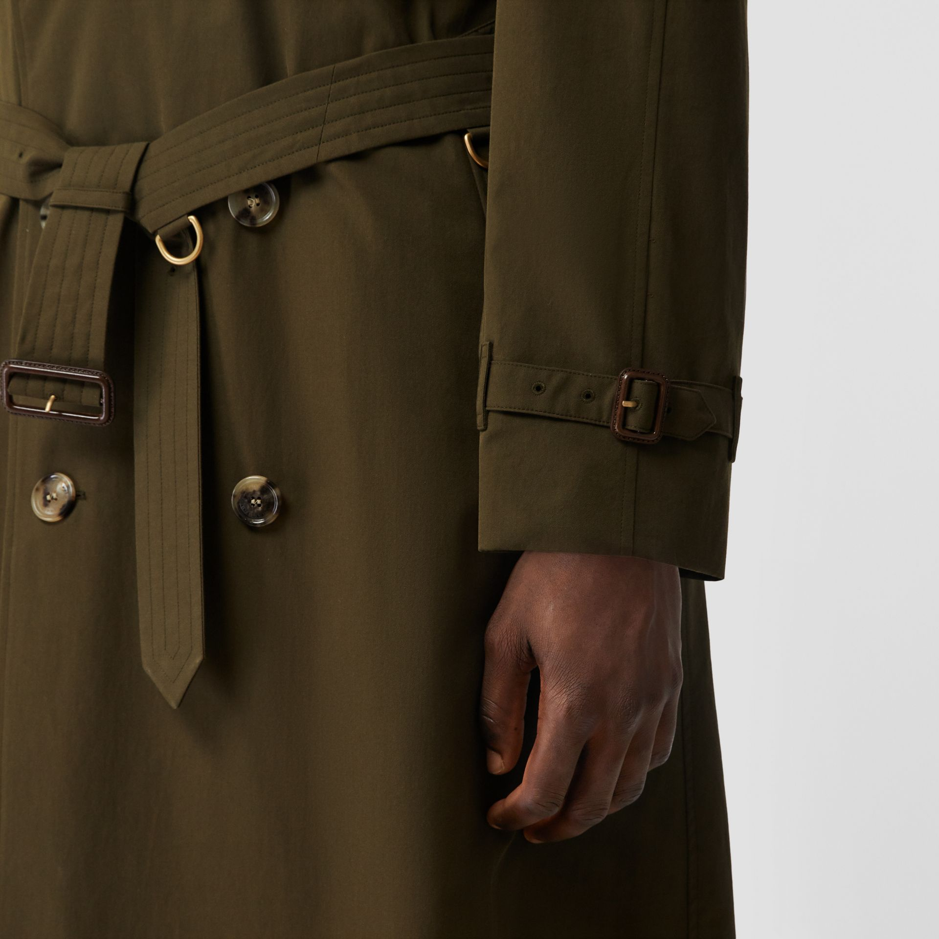 The Westminster Heritage Trench Coat in Dark Military Khaki - Men | Burberry Canada - gallery image 3