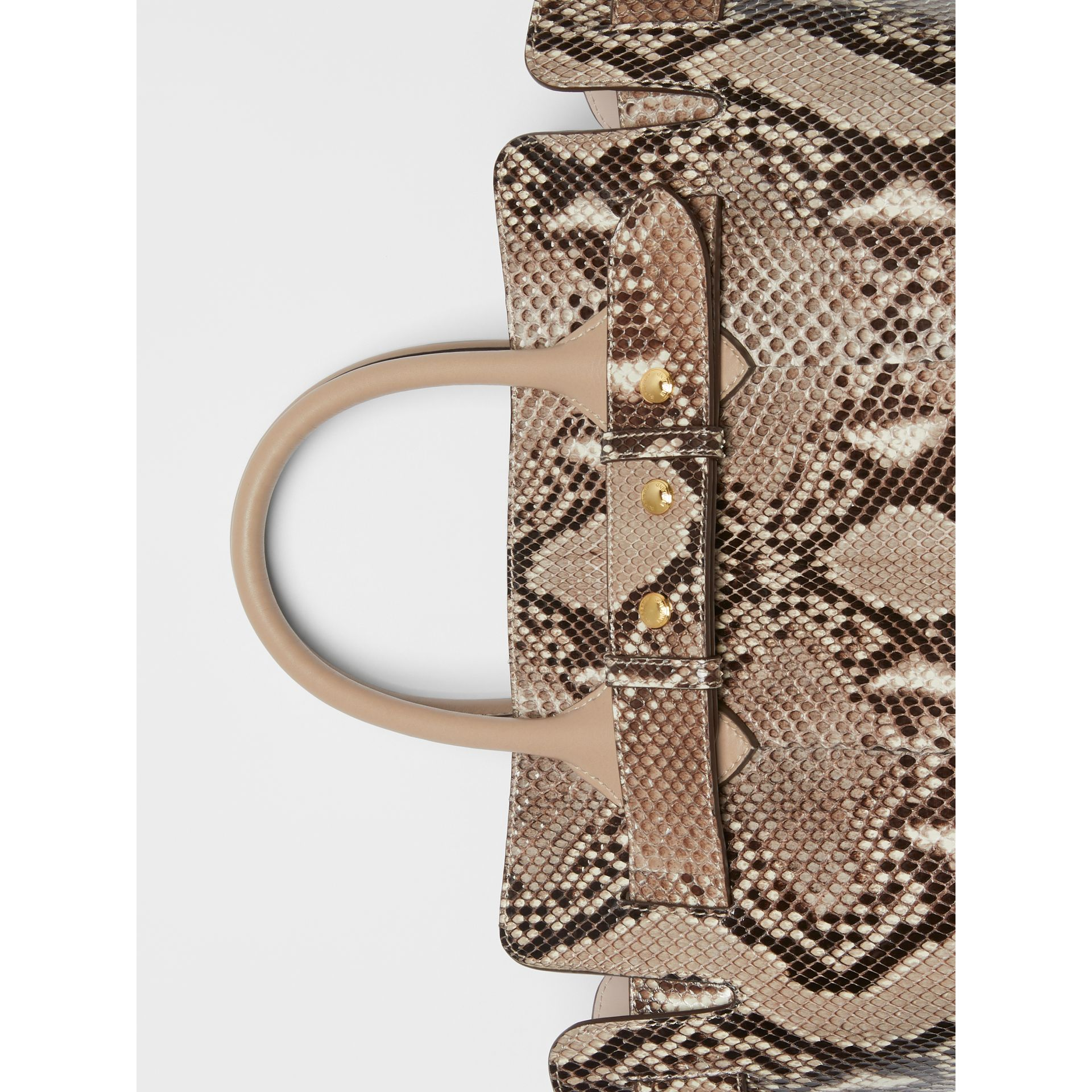 The Small Python Triple Stud Belt Bag in Natural/pale Drift - Women | Burberry United Kingdom - gallery image 1