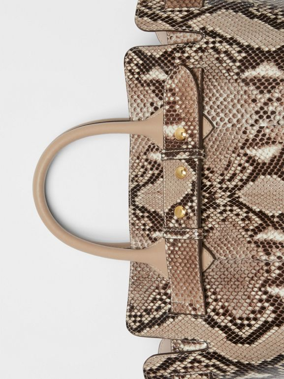 The Small Python Triple Stud Belt Bag in Natural/pale Drift - Women | Burberry Australia - cell image 1