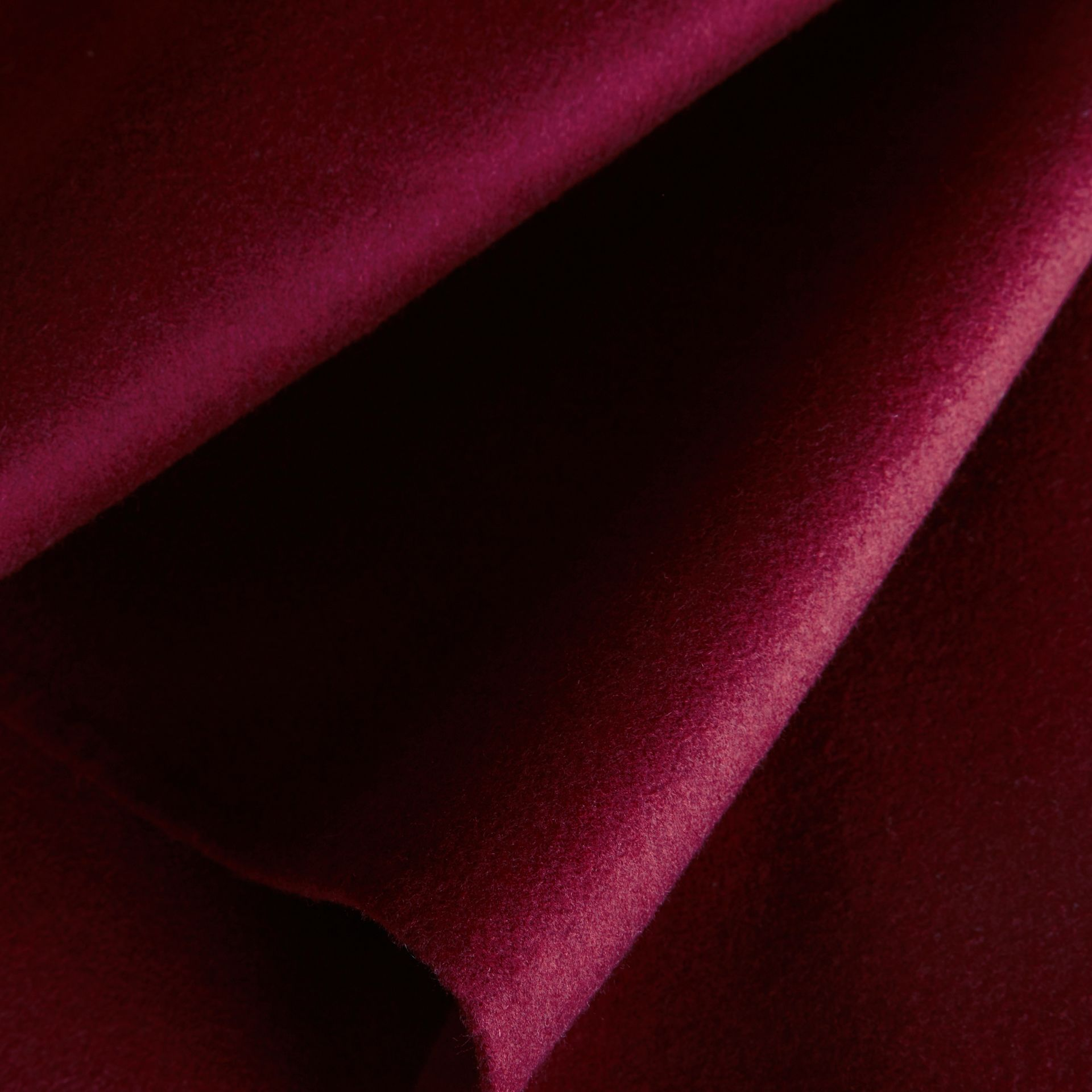 Burgundy Military Button Wool Cashmere Blend Cape Burgundy - gallery image 2