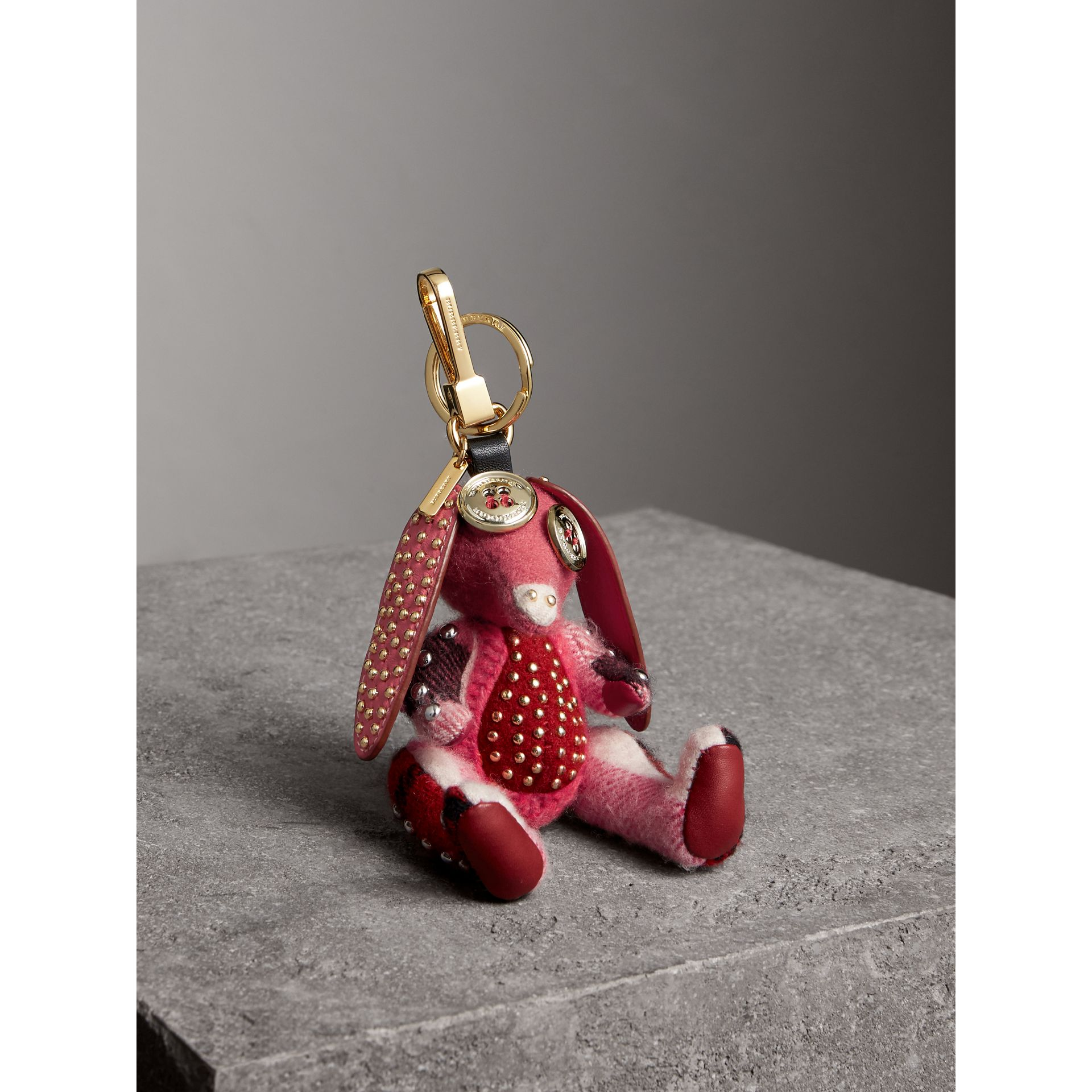 Sandra The Basset Hound Cashmere Charm in Rose Pink - Women | Burberry Hong Kong - gallery image 0