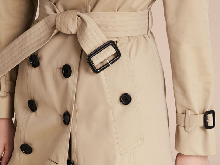 Honey Cotton Gabardine Trench Coat - cell image 4
