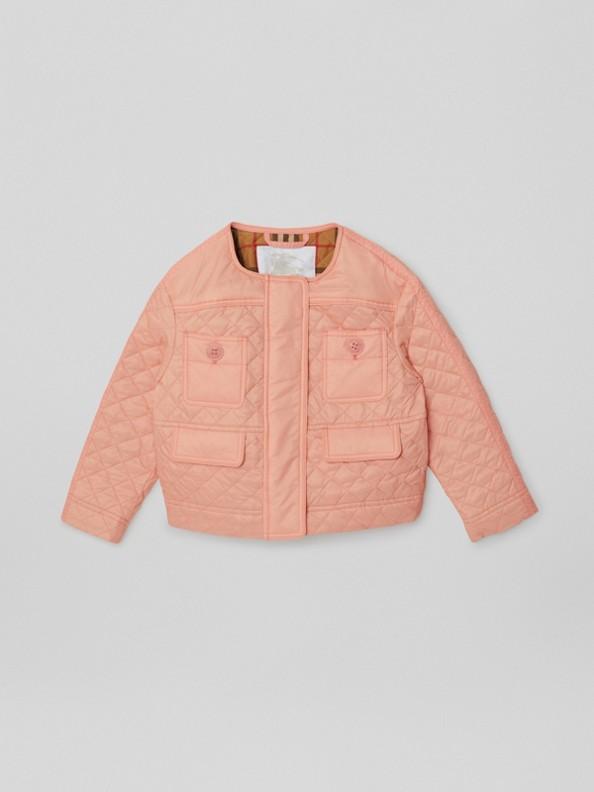 Легкая стеганая куртка (Розовый Абрикос)