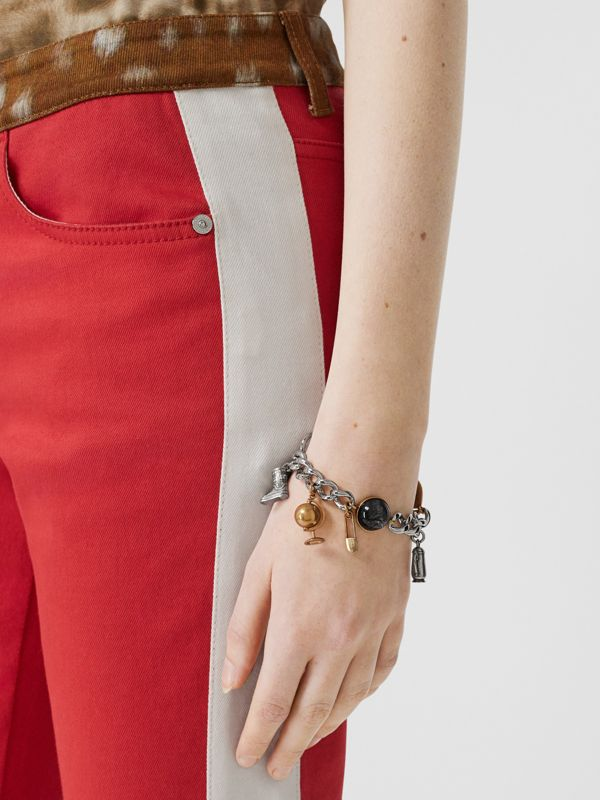 Marbled Resin Charm Chain Bracelet in Palladio - Women | Burberry - cell image 2