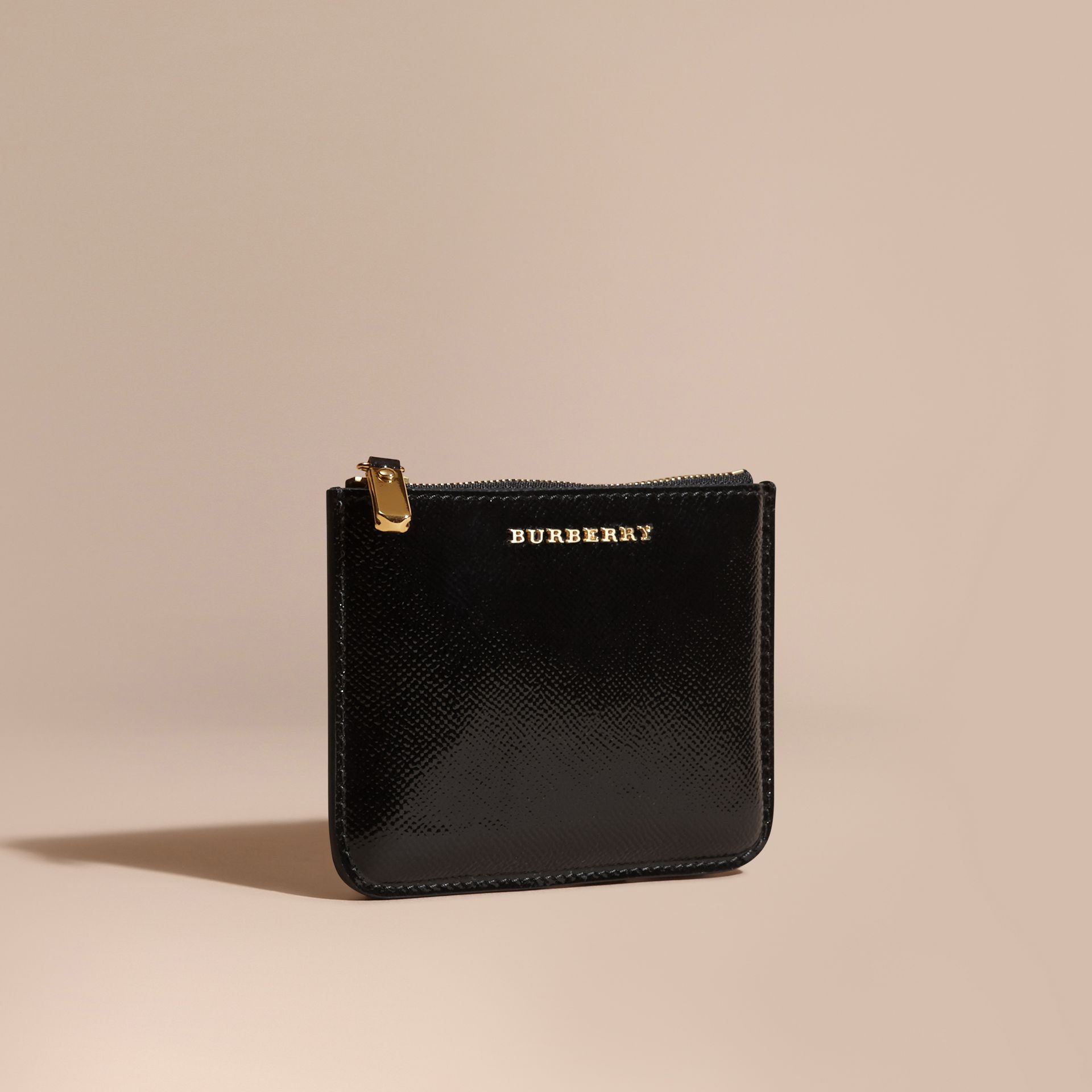 Pochette en cuir London verni - Femme | Burberry - photo de la galerie 1