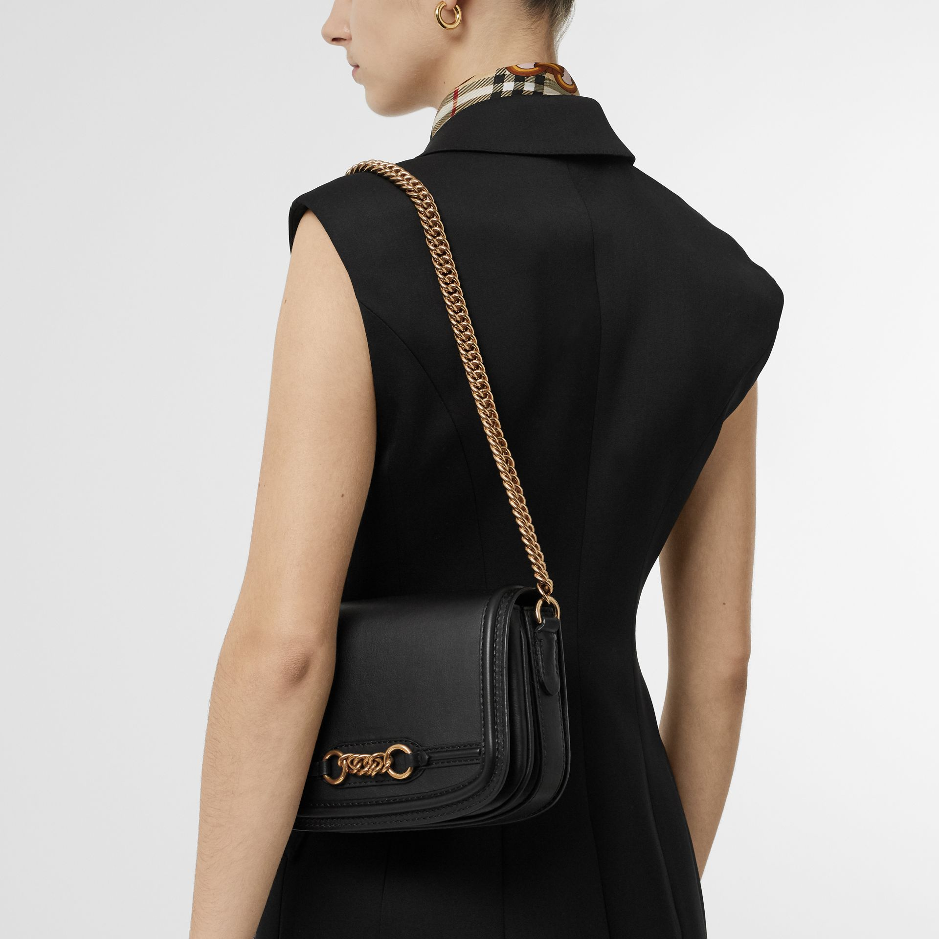 The Leather Link Bag in Black - Women | Burberry - gallery image 2