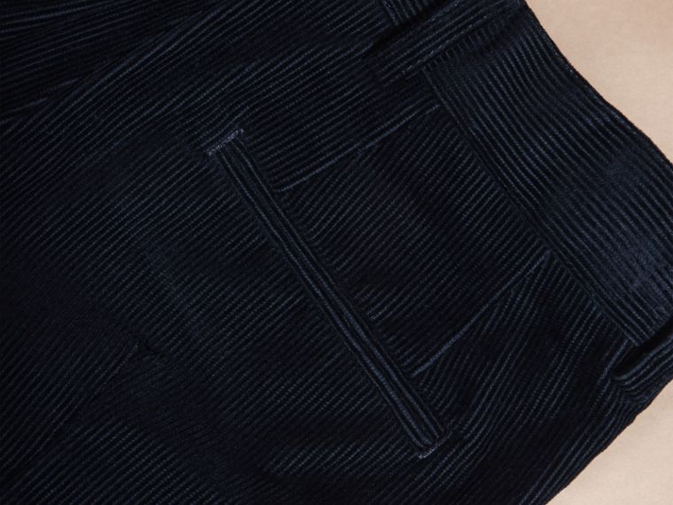 Navy Wool Cord Trousers - cell image 1