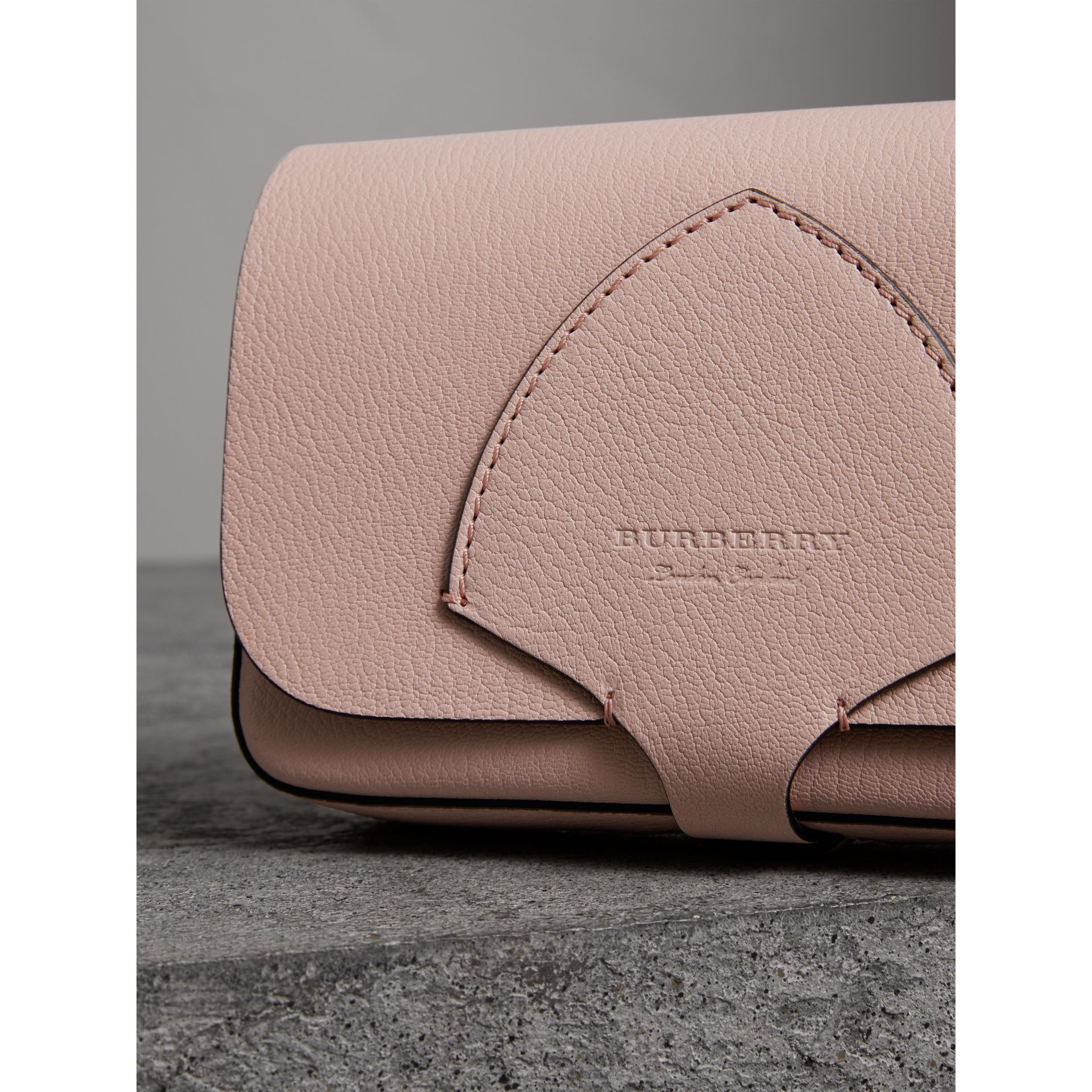 Equestrian Shield Leather Wallet with Detachable Strap in Pale Ash Rose - Women | Burberry Australia - gallery image 1