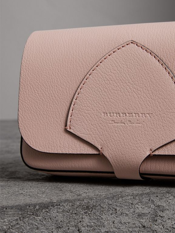 Equestrian Shield Leather Wallet with Detachable Strap in Pale Ash Rose - Women | Burberry Canada - cell image 1
