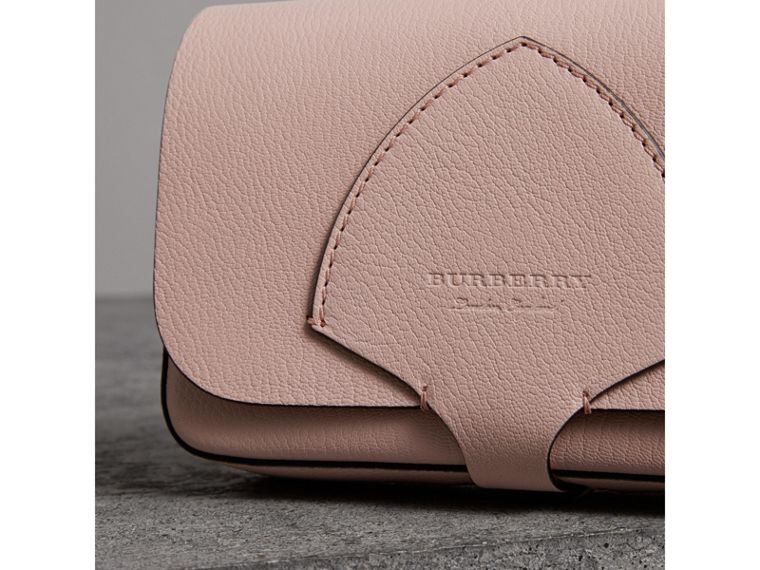 Equestrian Shield Leather Wallet with Detachable Strap in Pale Ash Rose - Women | Burberry Australia - cell image 1