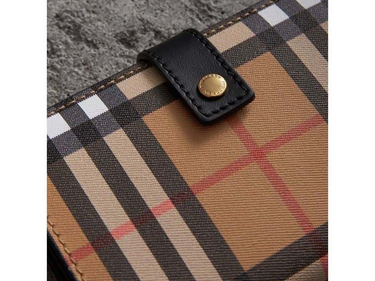 Vintage Check and Leather Folding Wallet in Black - Women | Burberry Hong Kong - cell image 1
