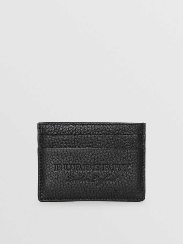 Textured Leather Card Case in Black | Burberry Singapore - cell image 2