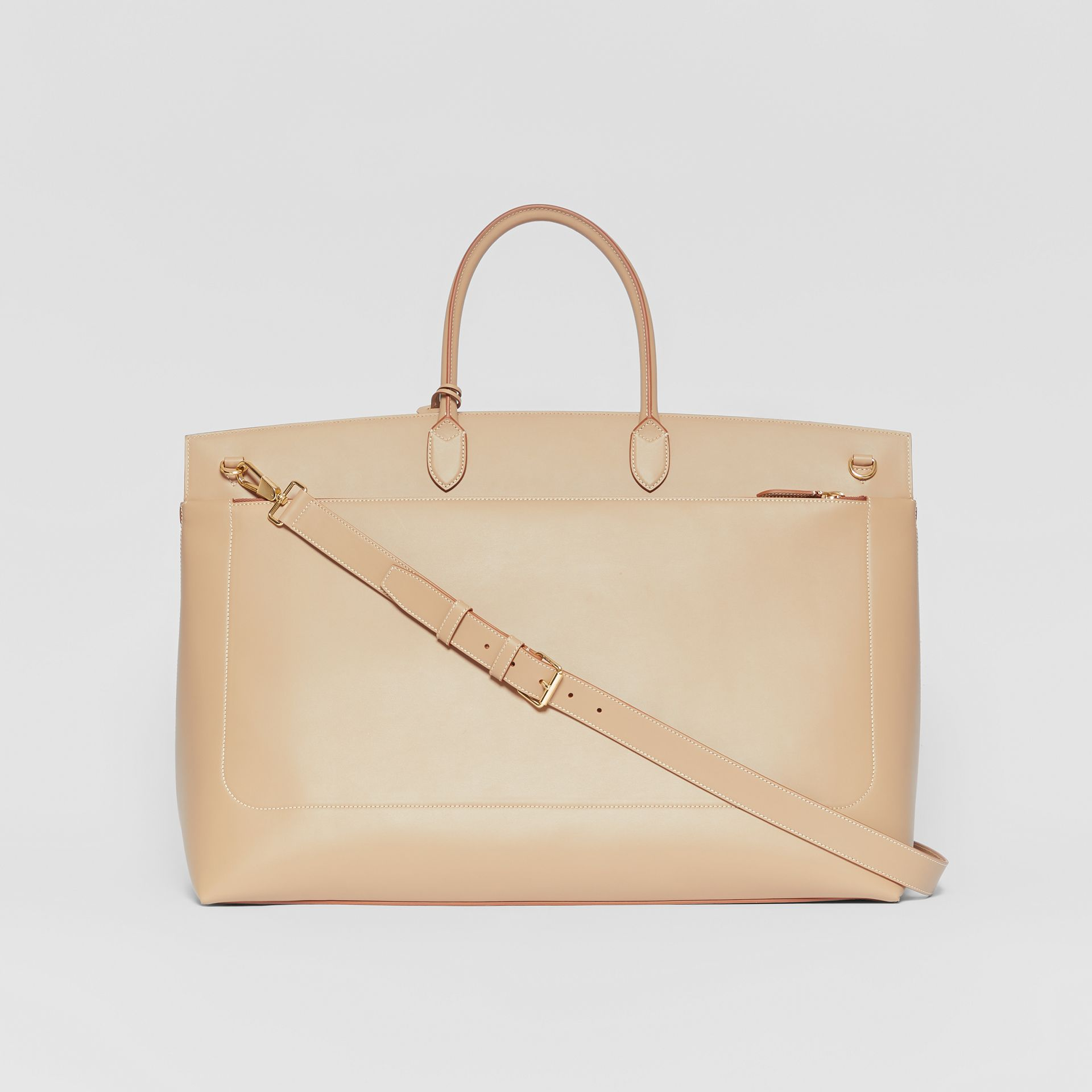 Extra Large Leather Society Top Handle Bag in Honey - Men | Burberry Hong Kong S.A.R - gallery image 5