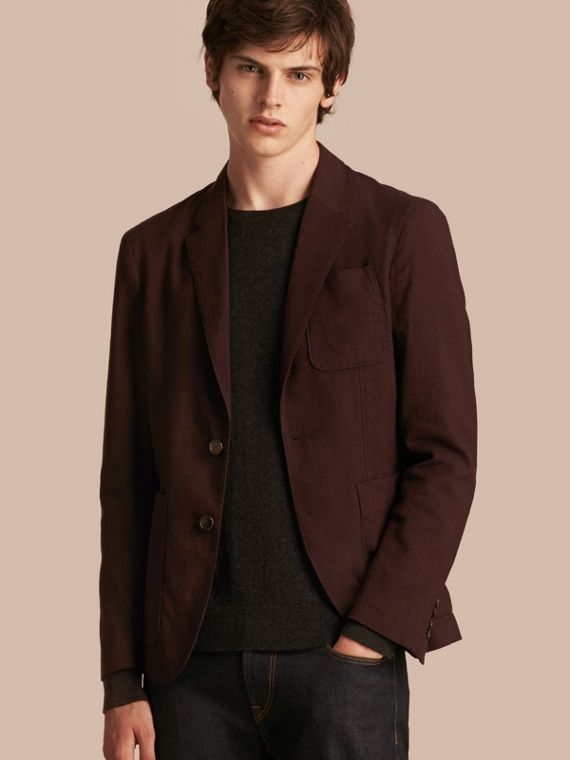Patch Pocket Cotton Wool Blend Tailored Jacket