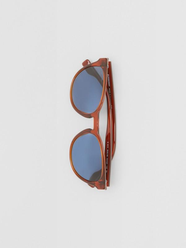 Round Frame Sunglasses in Amber - Men | Burberry Australia - cell image 2
