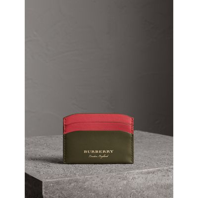 Burberry - Porte-cartes en cuir trench bicolore - 4