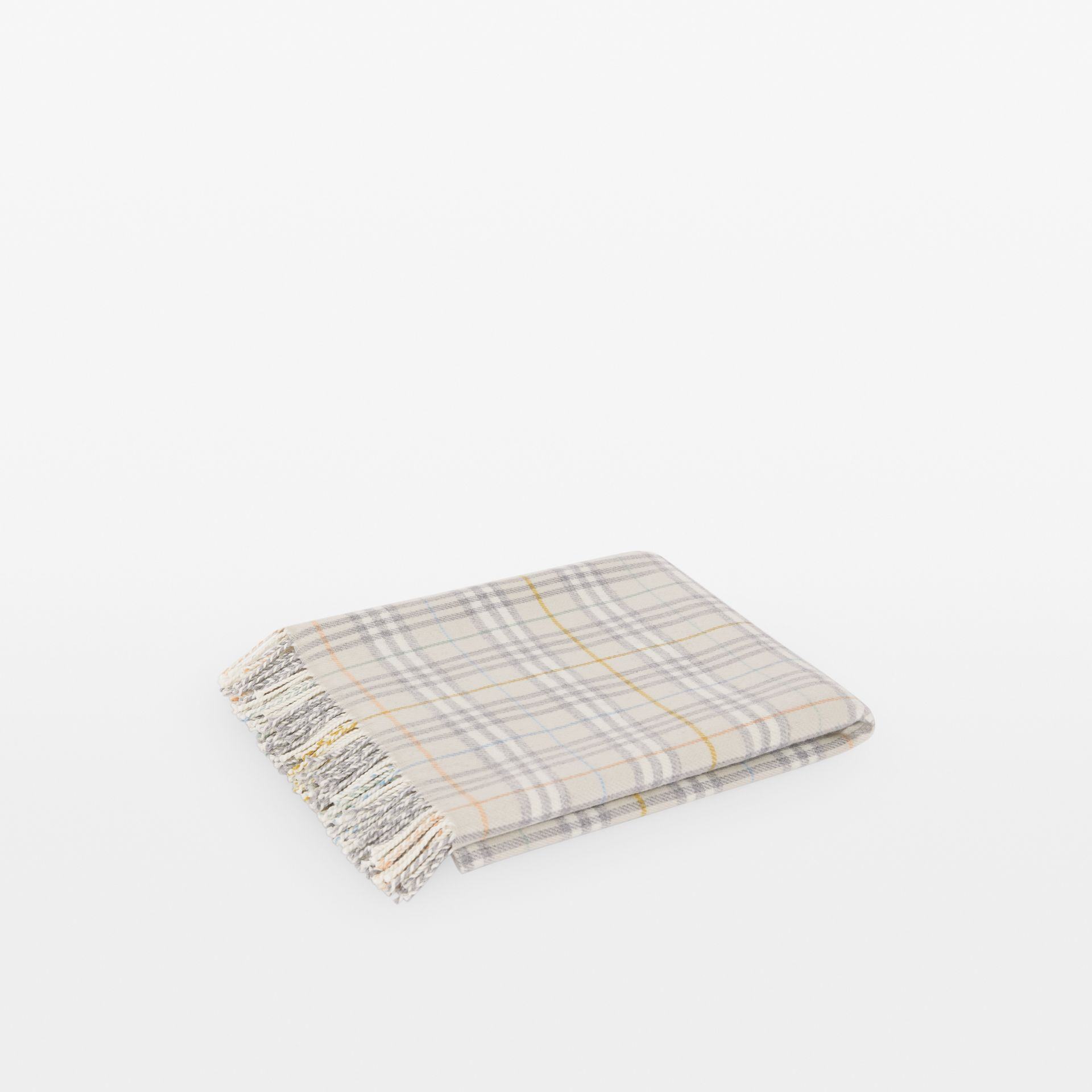 Check Merino Wool Baby Blanket in Ivory - Children | Burberry - gallery image 0