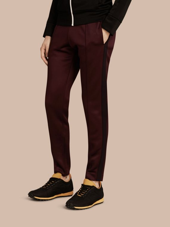 High-shine Track Pants Maroon Purple