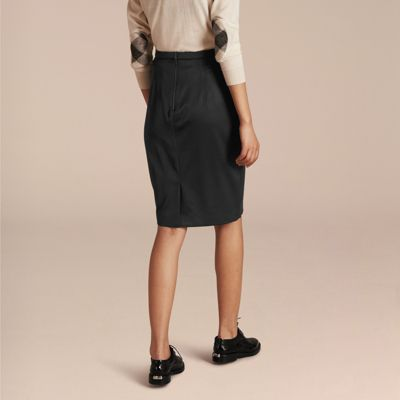stretch wool tailored pencil skirt burberry
