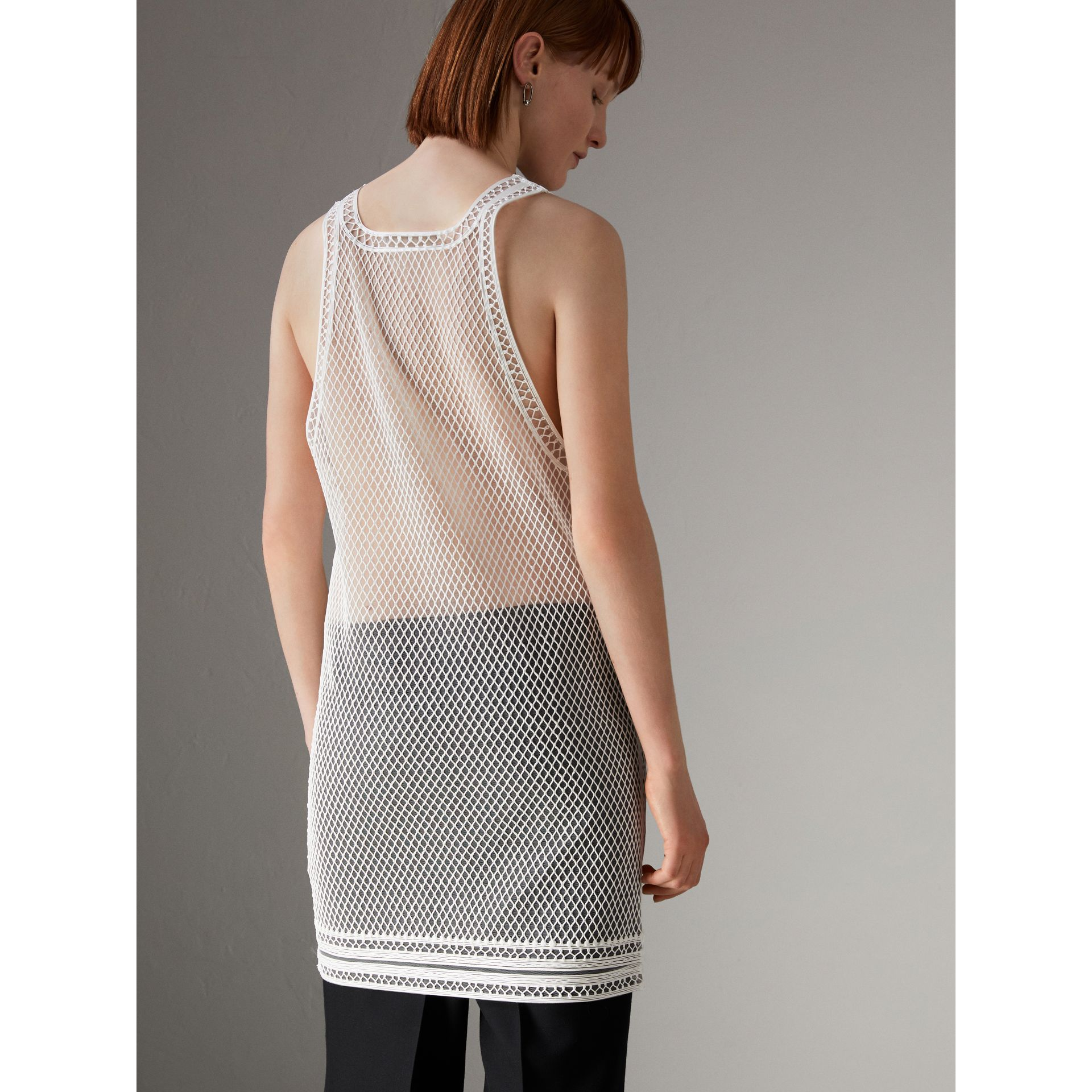 Silicone Lace Vest in White - Women | Burberry United States - gallery image 2