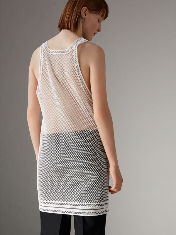 Silicone Lace Vest in White - Women | Burberry United States - cell image 2
