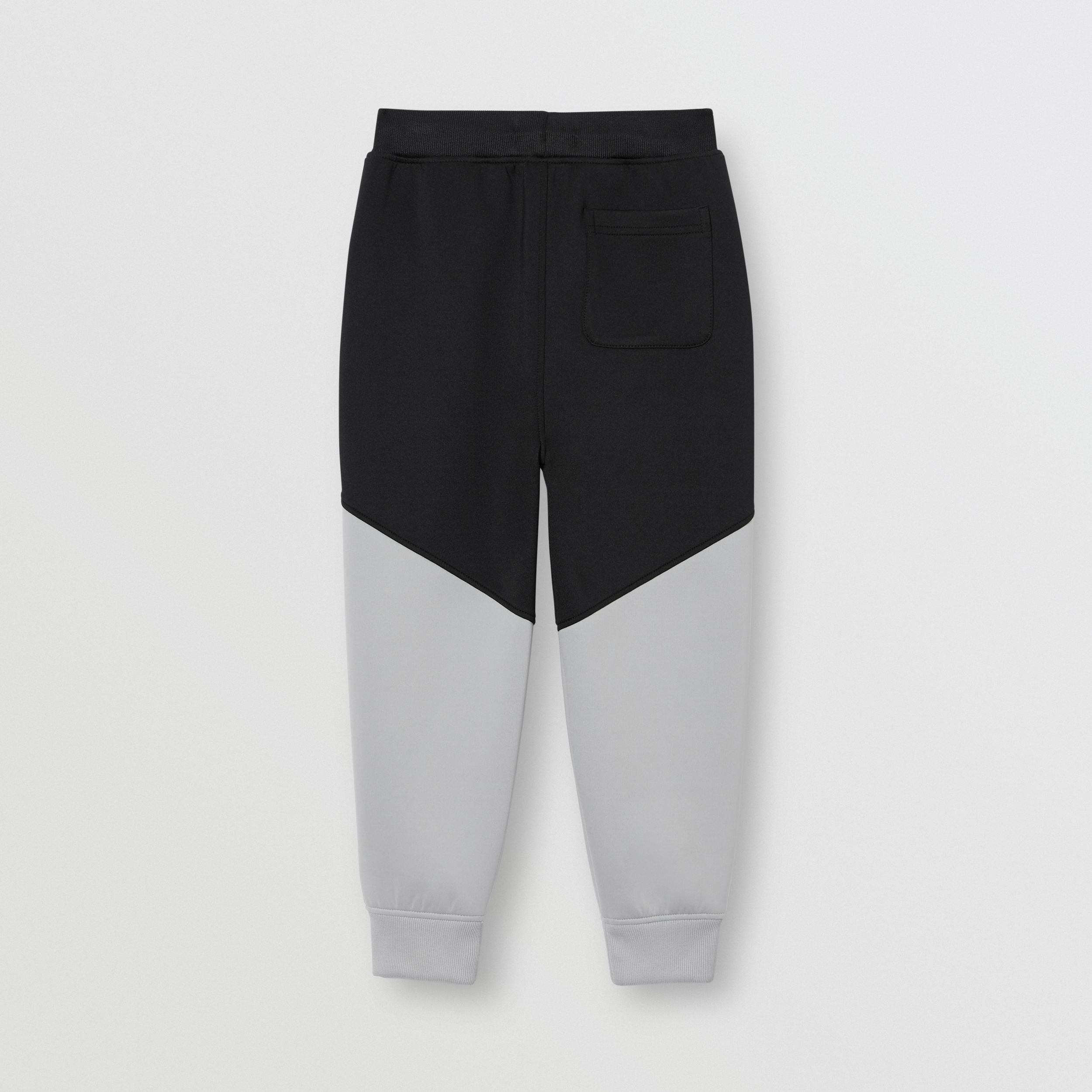 Logo Print Two-tone Stretch Jersey Trackpants in Black | Burberry - 4