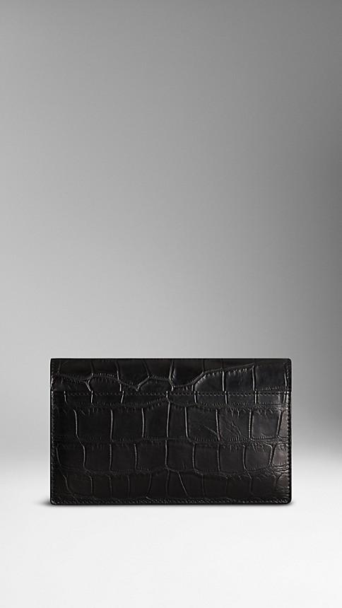 Black Alligator Wrist-Strap Wallet - Image 2