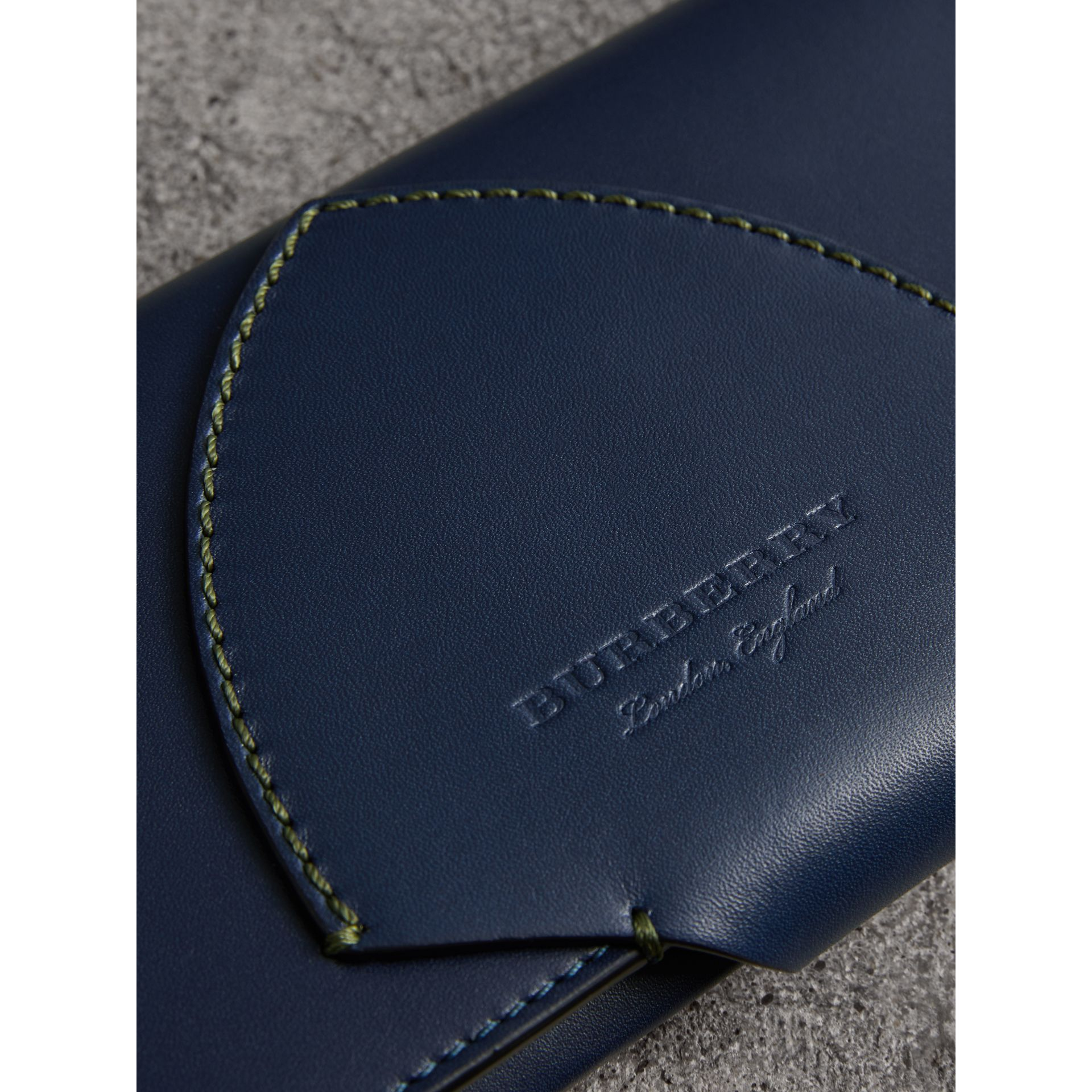 Equestrian Shield Two-tone Leather Continental Wallet in Mid Indigo - Women | Burberry United Kingdom - gallery image 1