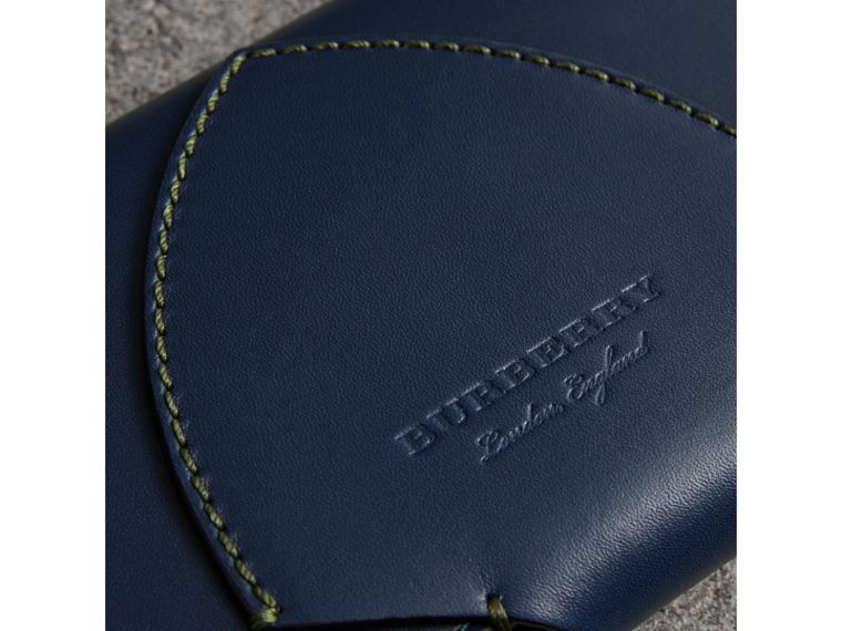 Equestrian Shield Two-tone Leather Continental Wallet in Mid Indigo - Women | Burberry United States - cell image 1