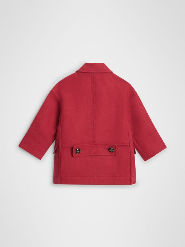 Double-faced Wool Pea Coat in Windsor Red | Burberry - cell image 3