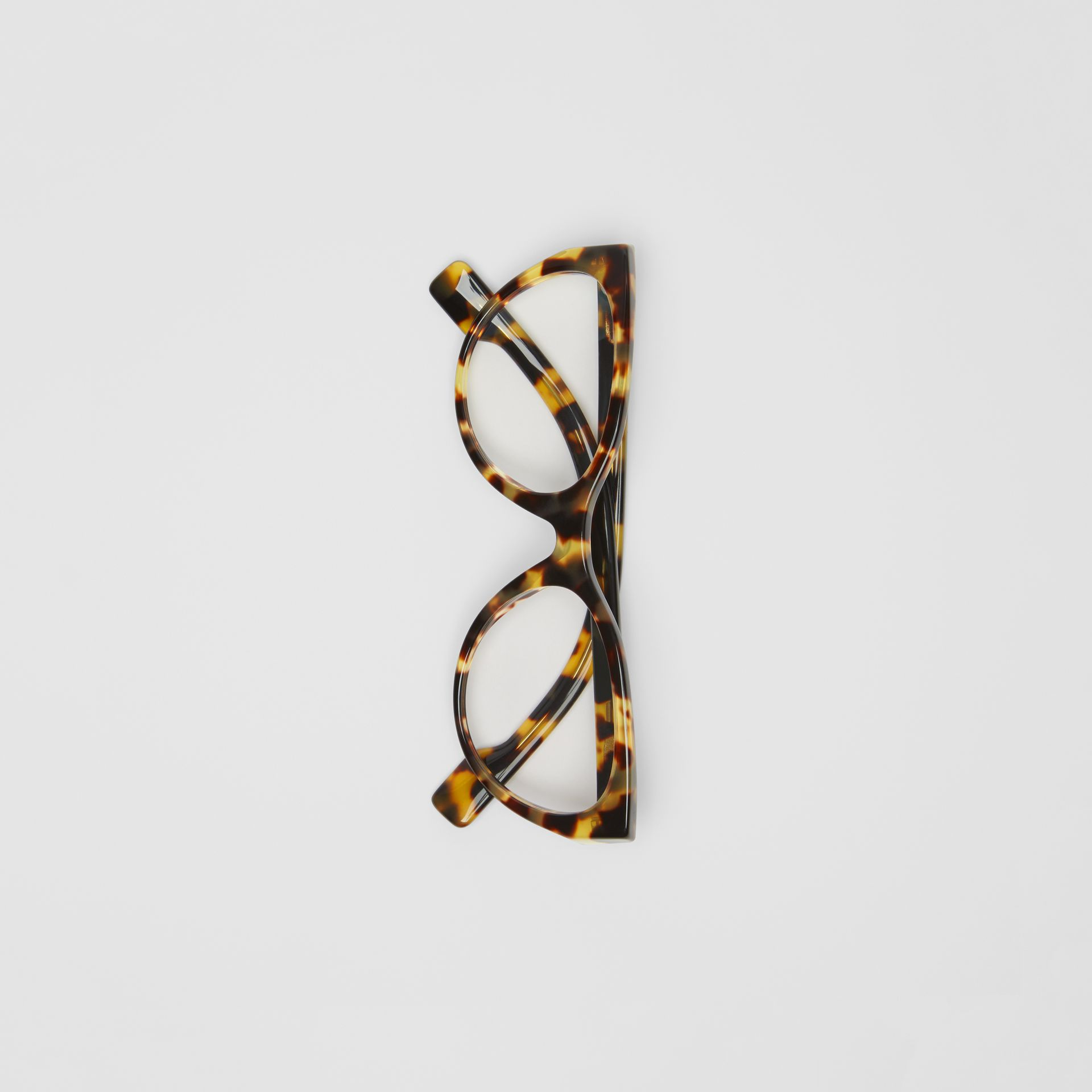 Cat-eye Optical Frames in Tortoise Shell - Women | Burberry - gallery image 3