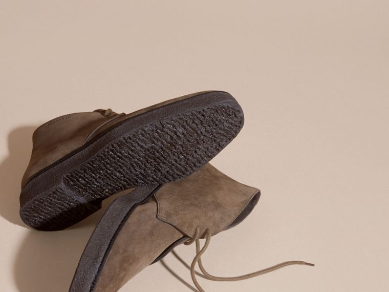 Crepe Sole Suede Desert Boots in Khaki - cell image 4