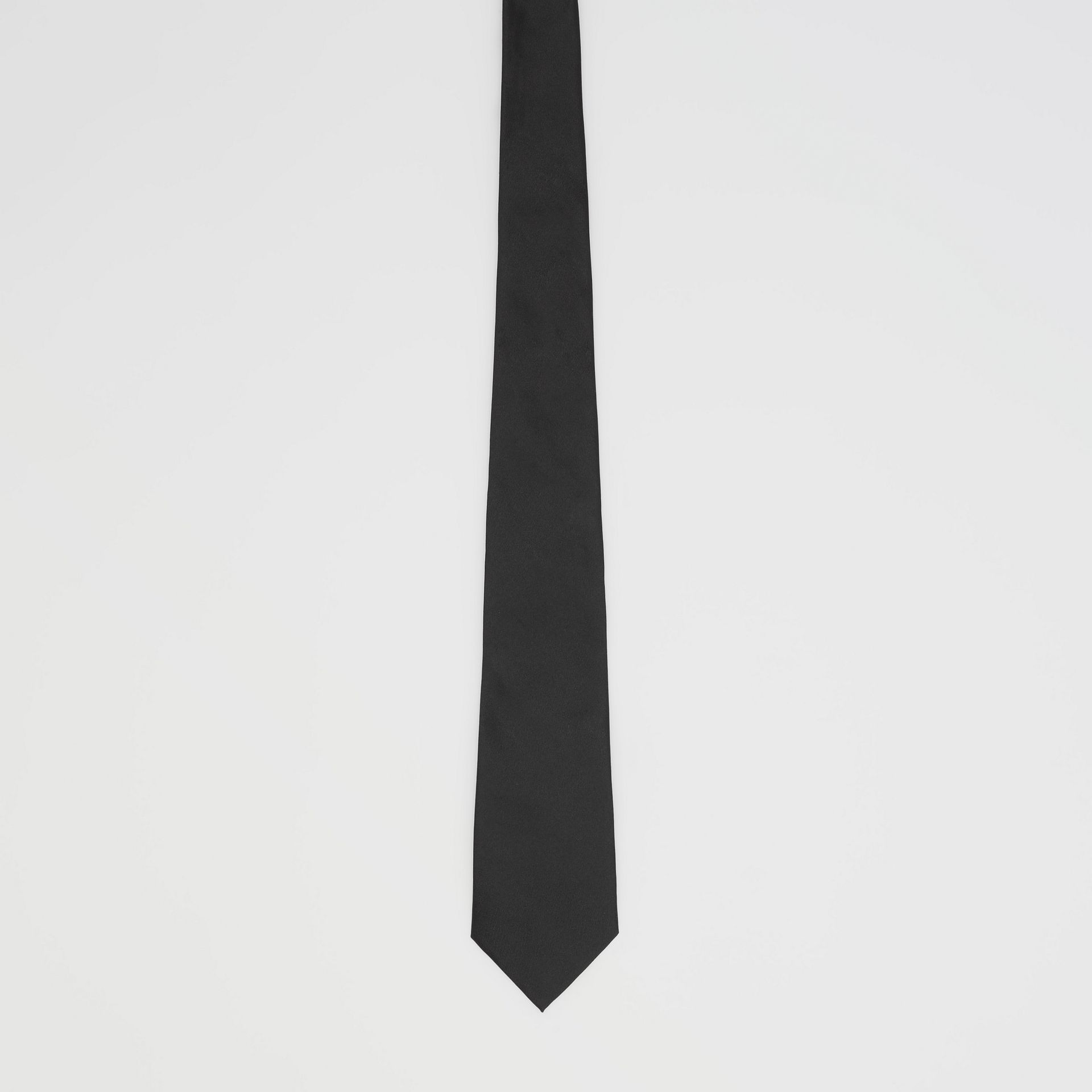 Classic Cut Silk Tie in Black - Men | Burberry - gallery image 3