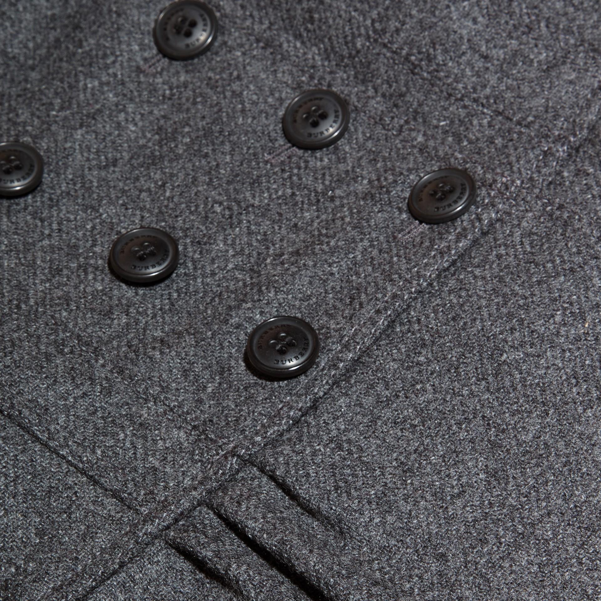 Grigio medio mélange Cappotto sartoriale in misto lana e cashmere Grigio Medio Mélange - immagine della galleria 2