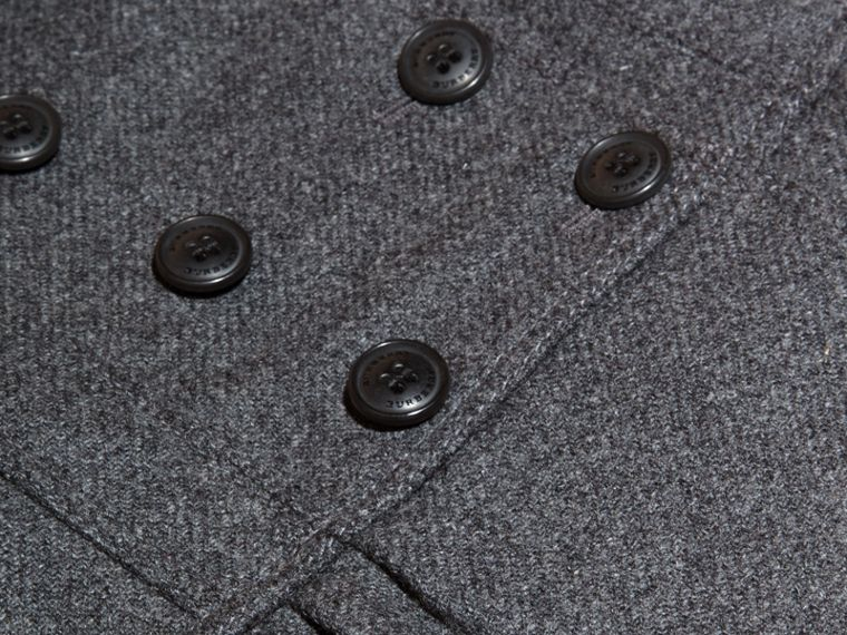 Mid grey melange Tailored Wool Cashmere Blend Coat Mid Grey Melange - cell image 1