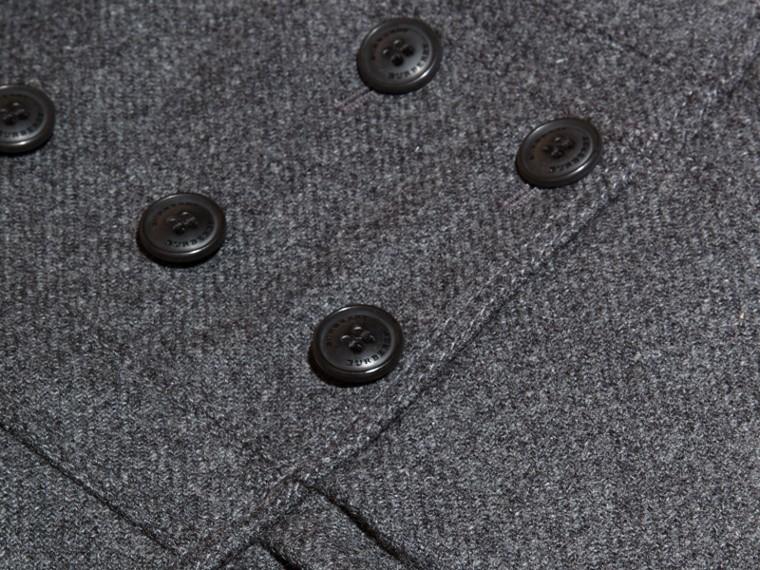 Grigio medio mélange Cappotto sartoriale in misto lana e cashmere Grigio Medio Mélange - cell image 1