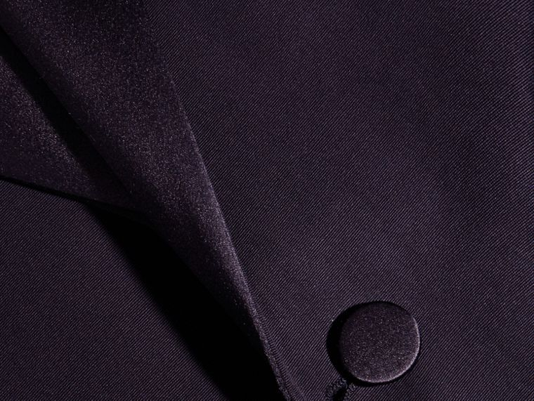 Dark navy Slim Fit Wool Tuxedo Jacket - cell image 1