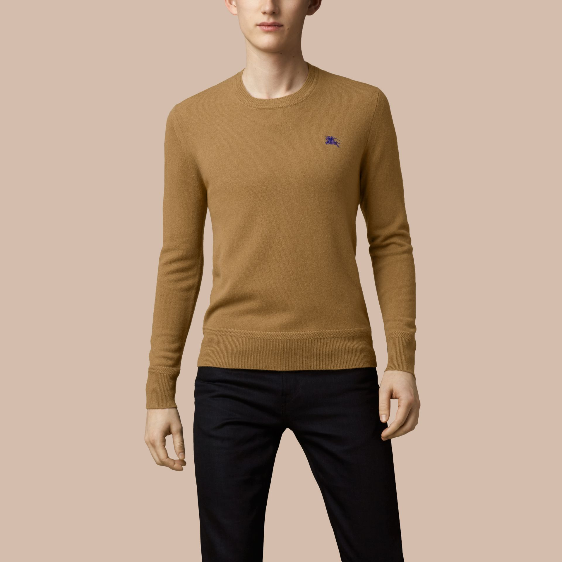 Heritage Detail Cashmere Sweater - Men | Burberry - gallery image 2